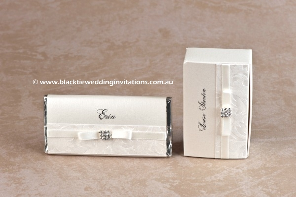 pretty - personalised chocolate and favour box