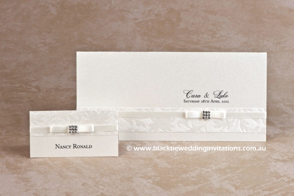 pretty - place card and invitation