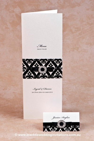 prince charming - menu and place card