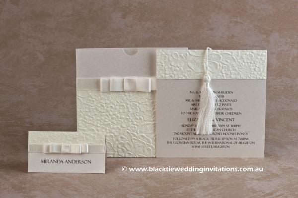 pure - place card and invitation