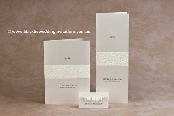 pure - menus and place card