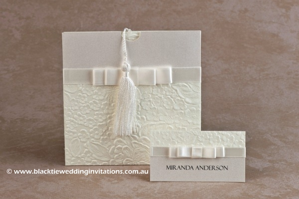 pure - invitation and place card