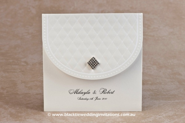 Wedding Invitation - Queen of Diamonds