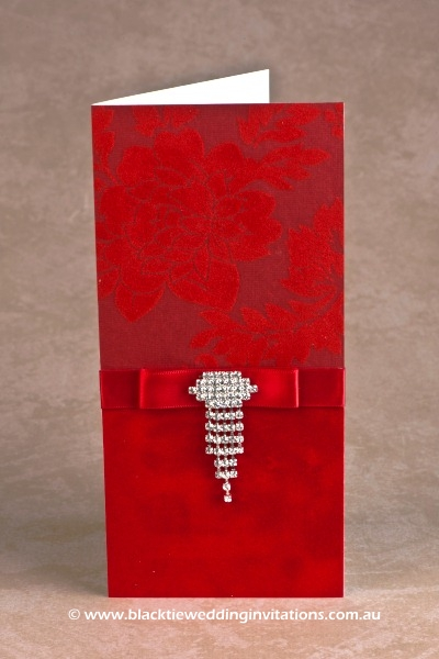 wedding invitation red
