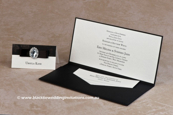 secret garden - place card and invitation with reply card