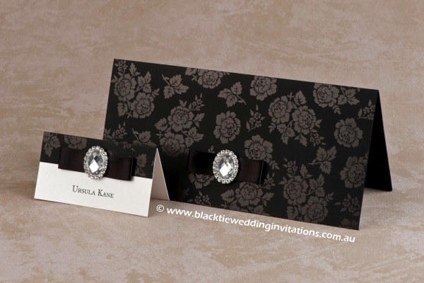 secret garden - place card and invitation