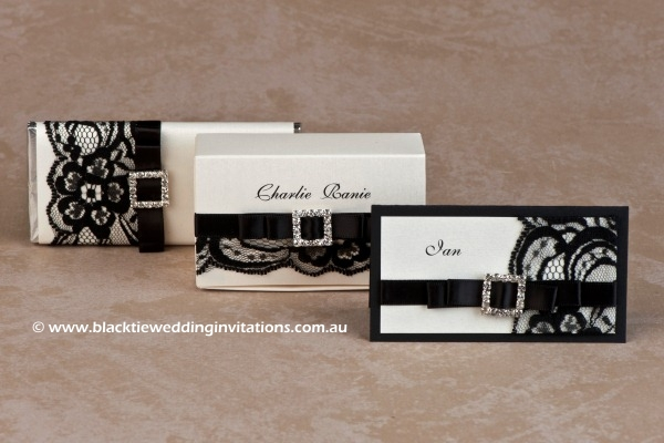 shimmer - personalised chocolate, favour box and place card