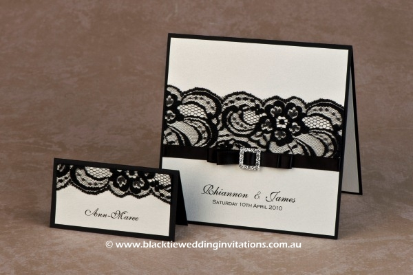 shimmer - place card and invitation