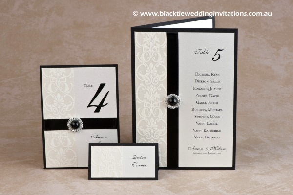 snow white - table number, place card and table list/menu