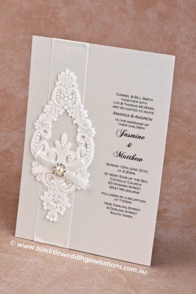 wedding invitation snowflake
