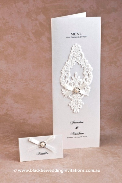 snowflake - place card and menu