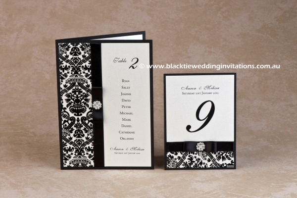 symphony - table card with menu and table number
