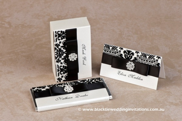 symphony - personalised chocolate, favour box and place card