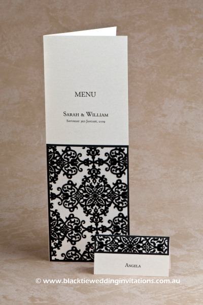 tapestry - menu and place card