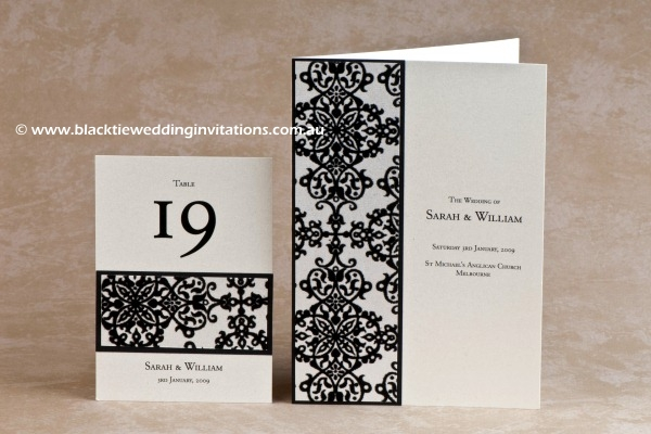 tapestry - table number and service booklet cover