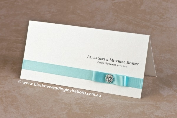wedding invitation touch of blue