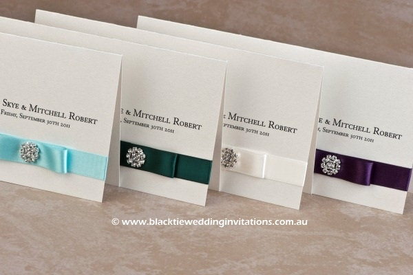 touch of blue - invitations in various colours