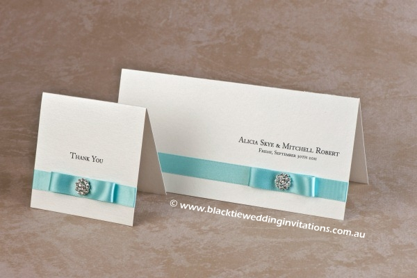 touch of blue - thank you card and invitation