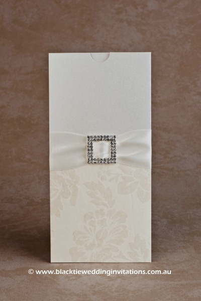 wedding invitation velvet cream