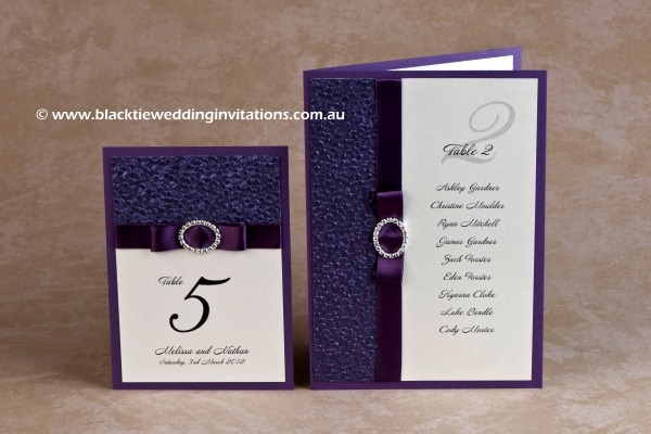 violetta - thank you card and table list/menu
