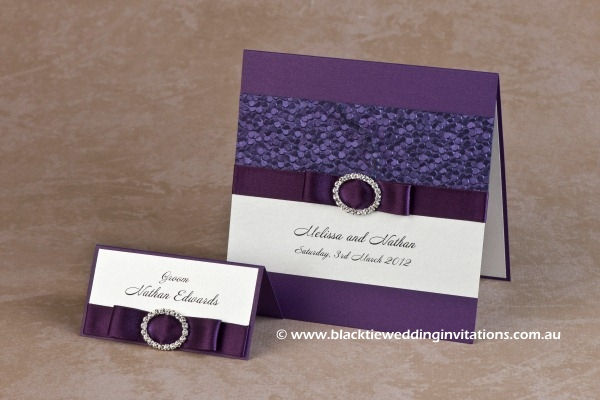 violetta - place card and invitation