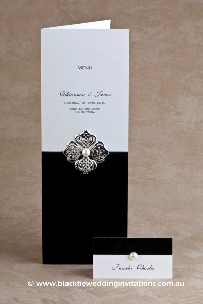 virtue - menu and place card