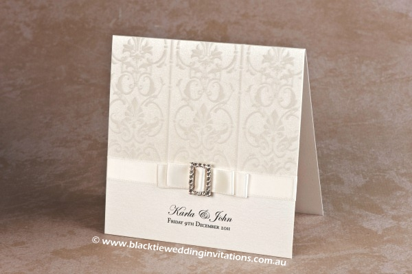 white wedding - invitation