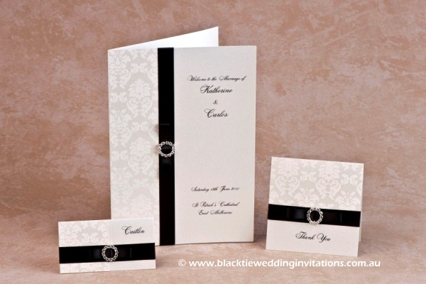 duchess - place card, service booklet cover and thank you card