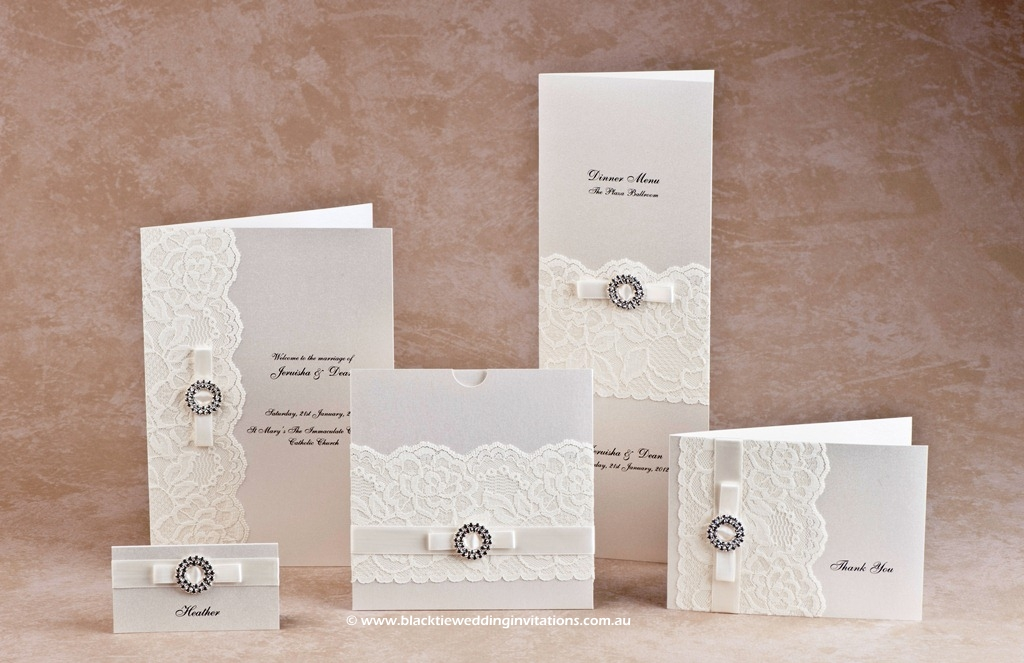 Wedding Stationery Bridal Lace