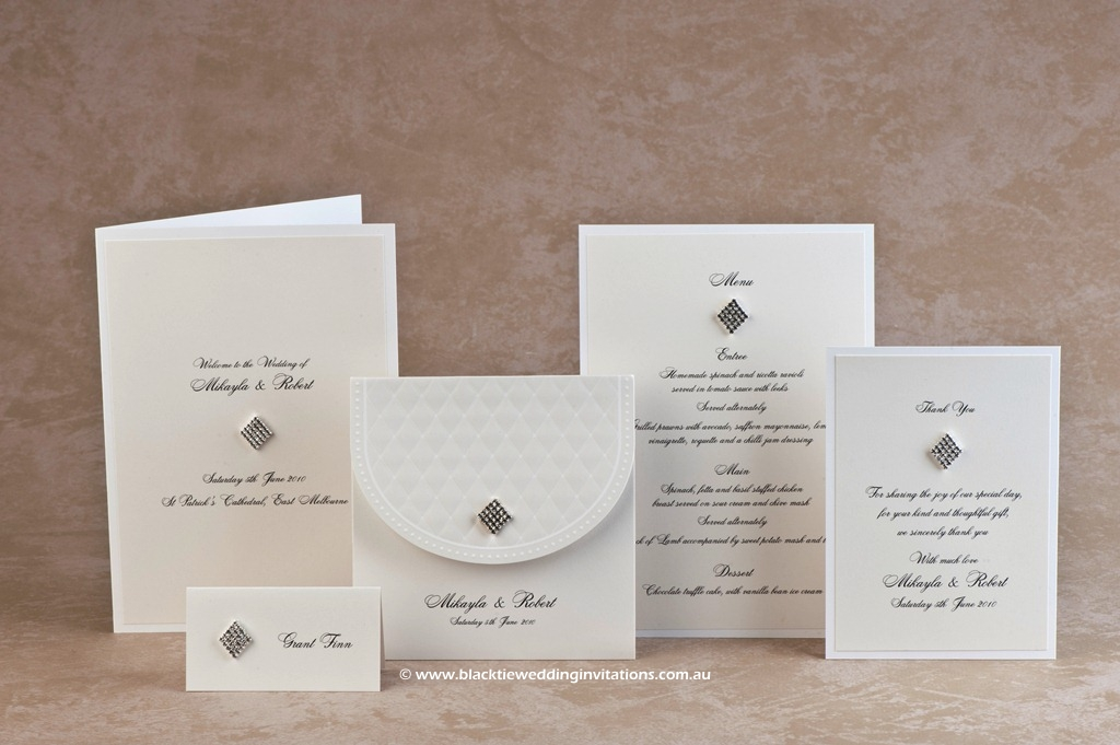 wedding stationery design - queen of diamonds