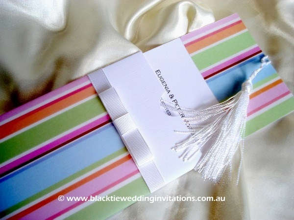 christening invitation candy cane