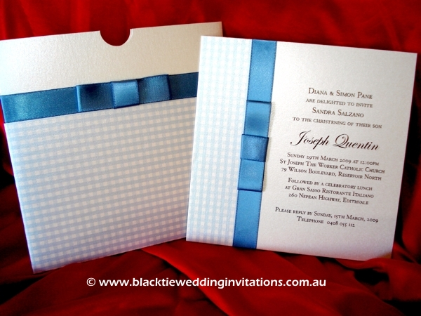 Christening Invitation - Country Class