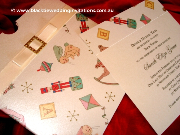 christening invitation play time