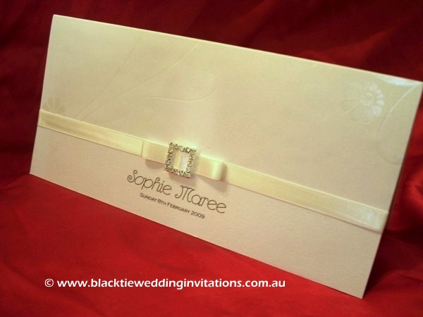 christening invitation white lilies