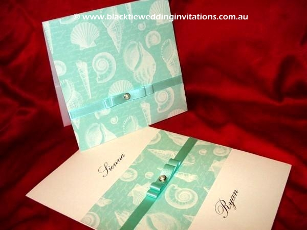 wedding invitation 7 mile beach