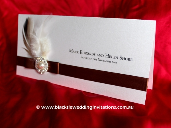 wedding invitation bella donna