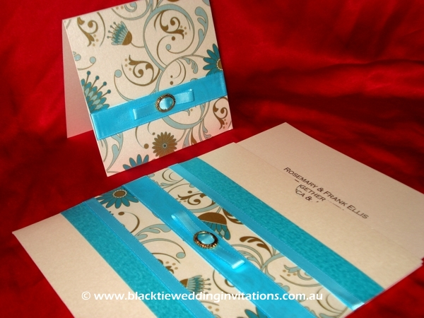 wedding invitation blue firenze