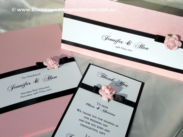 wedding invitation blush