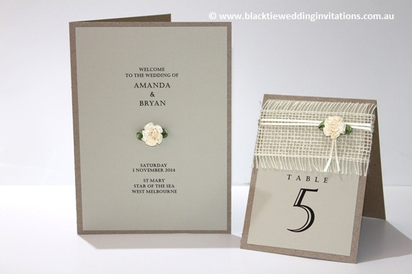 a little bit country:  service booklet and table number