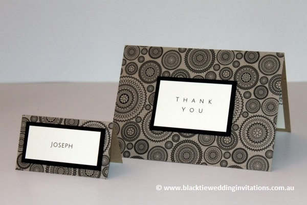 dreamcatcher thank you card and place card