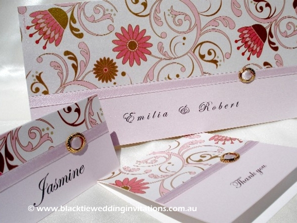 wedding invitation flora