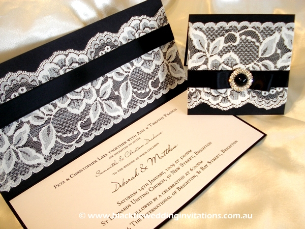 wedding invitation french lace