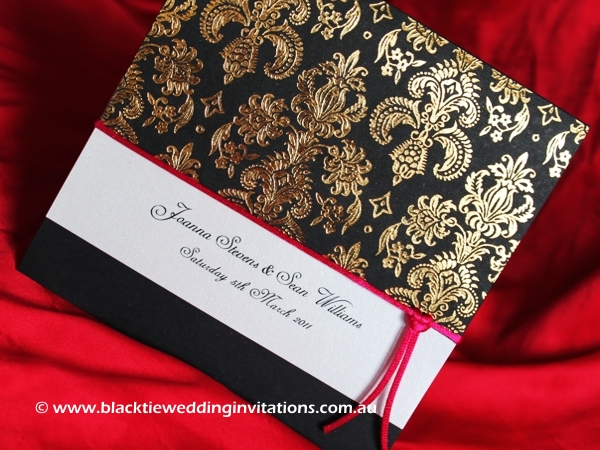 wedding invitation fucshia royale