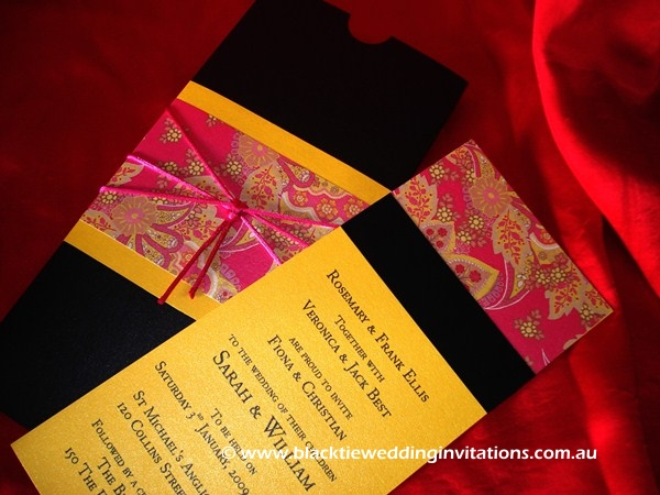 wedding invitation indian sari