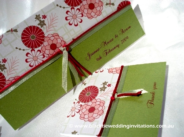 wedding invitation japanese garden