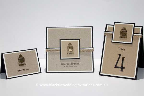 love bird place card, invitation and table number
