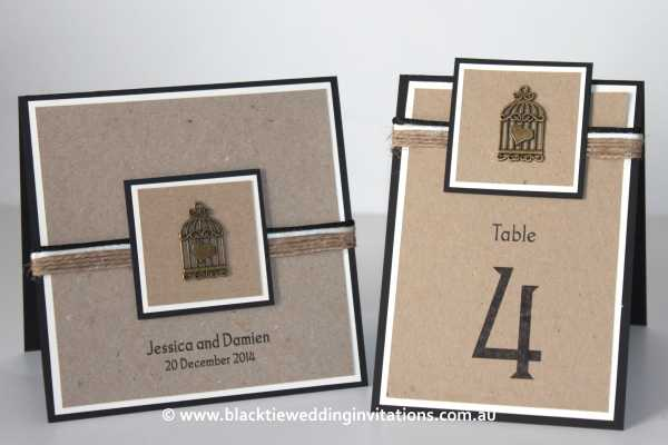 love bird invitation and table number