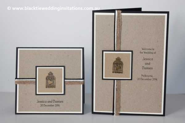 love bird invitation and service booklet