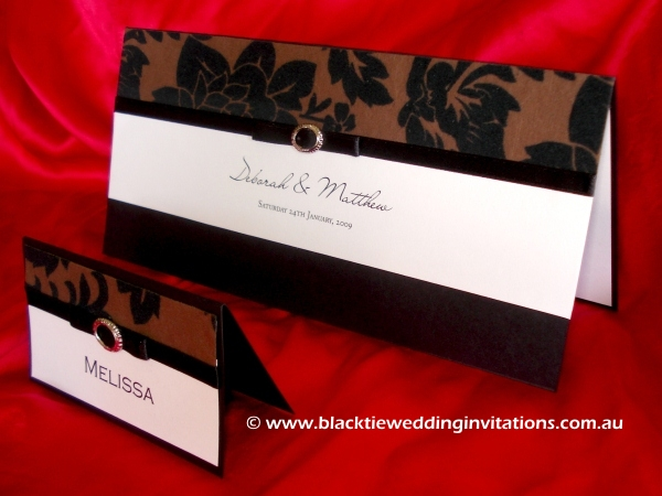 wedding invitation mocha infusion