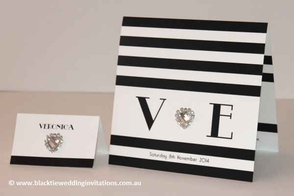 new york - place card and invitation